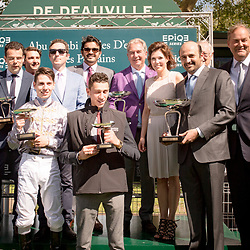 BRAMETOT (C. Demuro) (outside) wins Gr 1 Abu Dhabi Poule d'Essai des Poulains 14/05/2017 in Deauville, France, photo: Zuzanna Lupa / Racingfotos.com