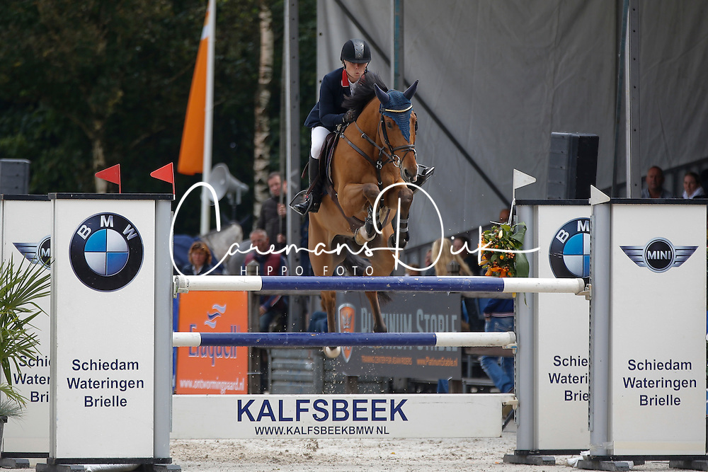 505 - Dow Jones HX - Parmler Malin<br /> 6 Jarige Finale Springen<br /> KWPN Paardendagen - Ermelo 2014<br /> © Dirk Caremans