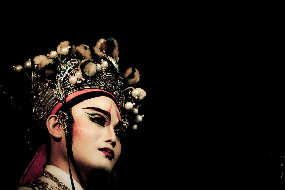 Portrait of Taiwanese folk opera performer from the Sho Qing Opera Group. Originating in eastern Taiwan in the late 19th century, Taiwanese folk opera is part of the southern variations of Chinese opera. As the only form of Han traditional drama to have come from Taiwan, it was started by immigrants from Fujian, China and told folk stories of the region. While its popularity has declined in the modern era, it still plays an important role in Taiwanese culture.