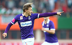 09.11.2014, Ernst Happel Stadion, Wien, AUT, 1. FBL, SK Rapid Wien vs FK Austria Wien, 15. Runde, im Bild Torjubel Daniel Royer (FK Austria Wien) // during a Austrian Football Bundesliga Match, 15th Round, between SK Rapid Vienna and FK Austria Vienna at the Ernst Happel Stadion, Wien, Austria on 2014/11/09. EXPA Pictures © 2014, PhotoCredit: EXPA/ Thomas Haumer