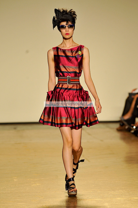 Tao Okamoto walks the runway wearing Marc by Marc Jacobs Spring 2010 collection during New York Mercedes-Benz fashion week on September 15, 2009.