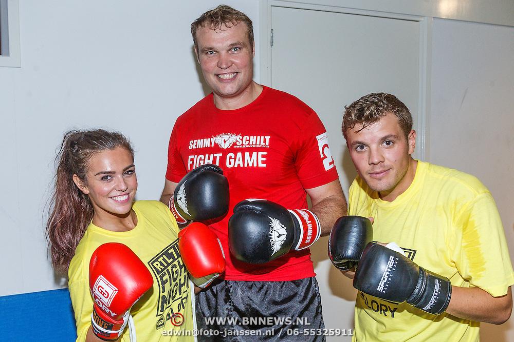 NLD/Amsterdam\/20131025 -Kickboxclinic van Sem Schilt, Laura Ponticorvo en Jaap Reesema