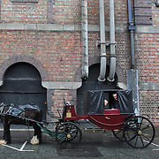 Horse and carriages outside the Guinness Storehouse St. James's Gate Brewery, Dublin, Ireland. Photo Tim Clayton