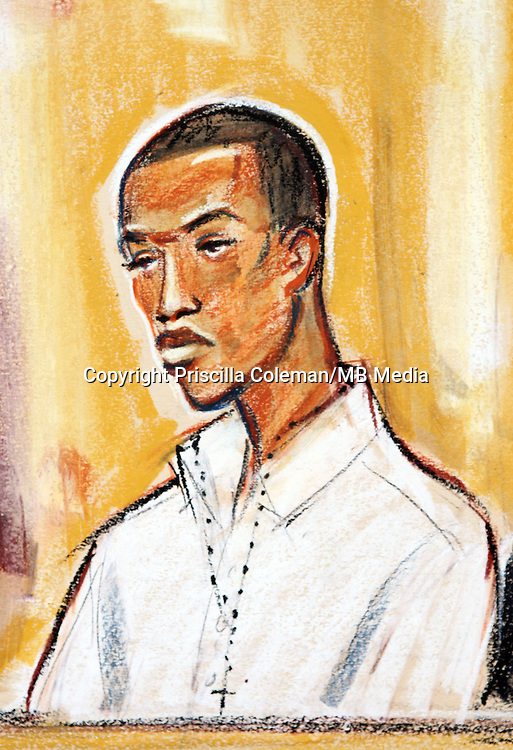 ©Priscilla Coleman ITV News..Supplied by: Photonews Service Ltd Old Bailey..Pic shows: Delano Brown, 18 who is on trial at the Old Bailey Central Criminal Court for the murder of Tom Ap Rhys Pryce, a promising young city lawyer who worked for Linklaters. See story...Illustration: Priscilla Coleman ITV News