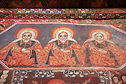 Africa, Ethiopia, Gondar Painted ceiling in the Church of Debre Birhan Selassie religious art paintings