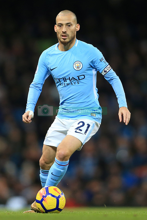 3rd December 2017 - Premier League - Manchester City v West Ham United - David Silva of Man City - Photo: Simon Stacpoole / Offside.