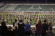 OUAA Athletics Reception attendees watch the Marching 110 at Peden Stadium on Thursday, October 8, 2015. Photo by Kaitlin Owens