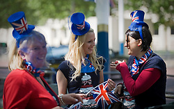 © licensed to London News Pictures.  28/05/2011. London, UK.  Today (28/05/2011) The day before the Royal Wedding fans gather to celebrate the monumental occasion. Photo  credit should read LNP.