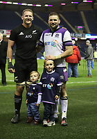 Rugby Union - 2017 Autumn Internationals - Scotland vs. New Zealand<br /> <br /> John Barclay of Scotland and Keiran Read of New Zealand with kids Finn and Logan after the match at Murrayfield.<br /> <br /> COLORSPORT/LYNNE CAMERON