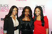 16 October 2010-New York, NY-  l to r: Joyful Drake, Nadine Ellis and Erkica Hubbard of ' Let's Stay Together ' at The Black Girls Rock! Shot Caller's Reception Presented by Beverly Bond and BET held at Fred's at Barneys New York on October 15, 2010 in New York City. ..BLACK GIRLS ROCK! Inc. is 501(c)3 non-profit youth empowerment and mentoring organization established to promote the arts for young women of color, as well as to encourage dialogue and analysis of the ways women of color are portrayed in the media. Photo Credit:.Terrence Jennings..