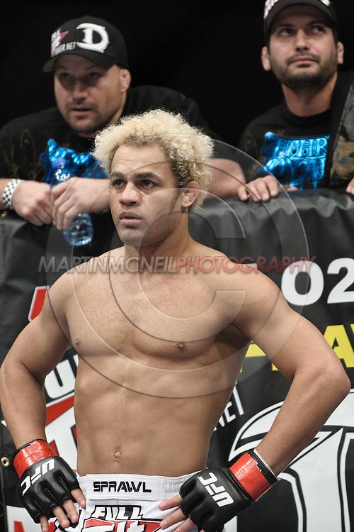 "LONDON, ENGLAND, FEBRUARY 21, 2009: Josh Koscheck during ""UFC 95: Sanchez vs. Stevenson"" inside the O2 Arena in Greenwich, London."