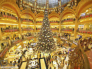 Paris, shopping mall Galeries Lafayette, France