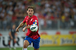 NOVI SAD, SERBIA - Tuesday, September 11, 2012: Serbia's captain Branislav Ivanovic in action against Wales during the 2014 FIFA World Cup Brazil Qualifying Group A match at the Karadorde Stadium. (Pic by David Rawcliffe/Propaganda)