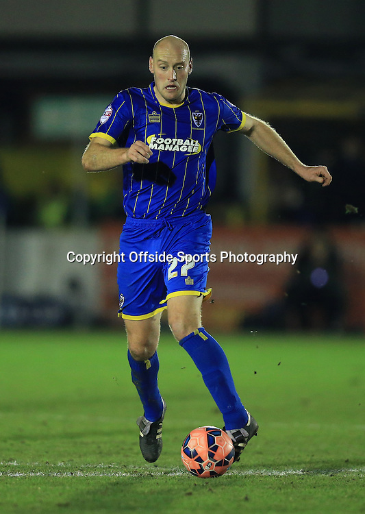 5 January 2015 - The FA Cup 3rd Round - AFC Wimbledon v Liverpool - Adam Barrett of AFC Wimbledon - Photo: Marc Atkins / Offside.