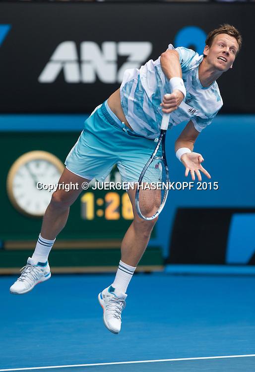 Tomas Berdych (CZE)<br /> <br /> Tennis - Australian Open 2015 - Grand Slam ATP / WTA -  Melbourne Olympic Park - Melbourne - Victoria - Australia  - 27 January 2015.