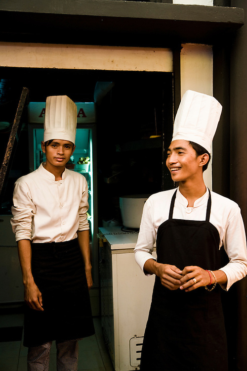 Young chefs. Siem Reap, Cambodia