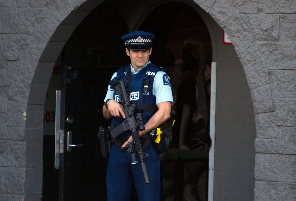 Police raided the Headhunter's Fight Club premises on Marua Road in Ellerslie as part of searches across the city as part of Op Sylvester, Auckland, New Zealand, Sunday, July 26, 2015. Credit:SNPA / Sam Sword