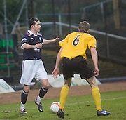 Dundee's Stephen O'Donnell and Livingston's Paul Watson - Dundee v Livingston, IRN BRU Scottish Football League, First Division at Dens Park - ..© David Young - .5 Foundry Place - .Monifieth - .Angus - .DD5 4BB - .Tel: 07765 252616 - .email: davidyoungphoto@gmail.com.web: www.davidyoungphoto.co.uk