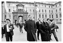 President George Herbert Walker Bush/USA in Prague, Czechoslovakia,1990