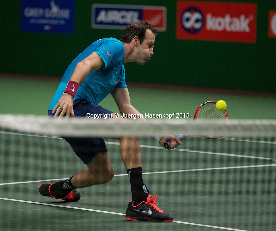 Champions Tennis League 2015, Hyderabad Aces vs Punjab Marshals Final, Endspiel, Greg Rusedski (GBR),action,<br /> <br /> <br /> Tennis - Champions Tennis League 2015 -  -   - Hyderabad - Telangana - India  - 7 December 2015. <br /> &copy; Juergen Hasenkopf