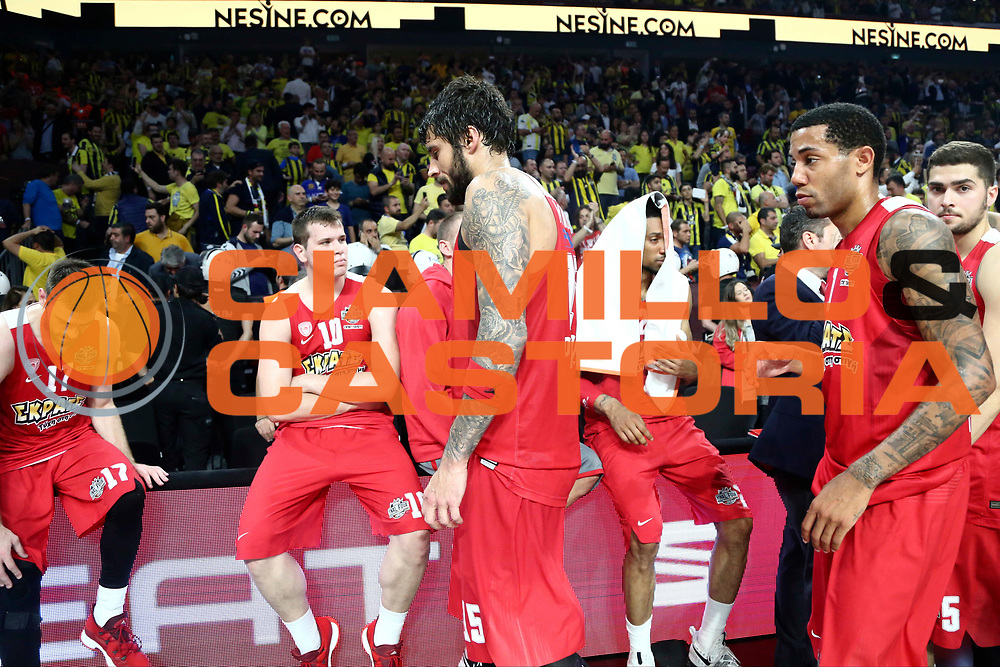 Giorogs Printezis, Erick Green<br /> Fenerbahce Istanbul - Olympiakos Piraeus<br /> Euroleague Final Four 2017<br /> Finale 1 - 2 Posto<br /> Euroleague 2016/2017<br /> Istanbul, 21/05/2017<br /> Foto M.Ceretti / Ciamillo - Castoria