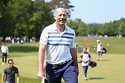 Alan Shearer on the 18th hole during the Celebrity Pro-Am day at Wentworth Club, Virginia Water, United Kingdom on 23 May 2018. Picture by Phil Duncan.