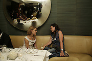 Natalia Vodianova and Katie Grand, Natalia Vodianova and Elle Macpherson host a dinner in honor of Francisco Costa (creative Director for women) and Italo Zucchelli (creative director for men)  of Calvin Klein. Locanda Locatelli, 8 Seymour St. London W1. ONE TIME USE ONLY - DO NOT ARCHIVE  © Copyright Photograph by Dafydd Jones 66 Stockwell Park Rd. London SW9 0DA Tel 020 7733 0108 www.dafjones.com