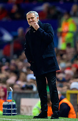 MANCHESTER, ENGLAND - Tuesday, March 13, 2018: Manchester United's manager Jose Mourinho during the UEFA Champions League Round of 16 2nd leg match between Manchester United FC and Sevilla FC at Old Trafford. (Pic by David Rawcliffe/Propaganda)