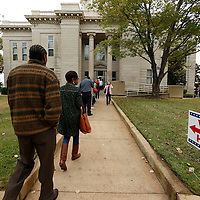 Thomas Wells | Buy at PHOTOS.DJOURNAL.COM<br /> Voters at the Lee County Courthouse in Tupelo faced long lines during Tuesday's elections.