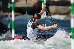 William CONEY of Great Britain during the Canoe Single (C1) Men SemiFinal race of 2019 ICF Canoe Slalom World Cup 4, on June 28, 2019 in Tacen, Ljubljana, Slovenia. Photo by Sasa Pahic Szabo / Sportida