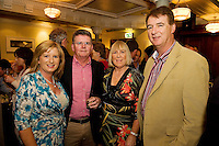 "19/7/2011. Tina and Brendan McDermott, Ulster Bank, with John and Anne Tully, Seamount in McSwiggans for the pre show reception of Propellors ""Comedy of Errors"" by Shakspeare in the Galway Arts Festival, sponsored by Ulster Bank. Photo:Andrew Downes"