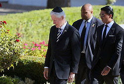 September 30, 2016 - Jerusalem, ISRAEL - Former U.S. President Bill Clinton, left, arrives for the funeral of former Israeli president and Nobel Peace Prize winner Shimon Peres at Jerusalem's Mount Herzl national cemetery on Friday, Sept. 30, 2016. (Credit Image: © Prensa Internacional via ZUMA Wire)