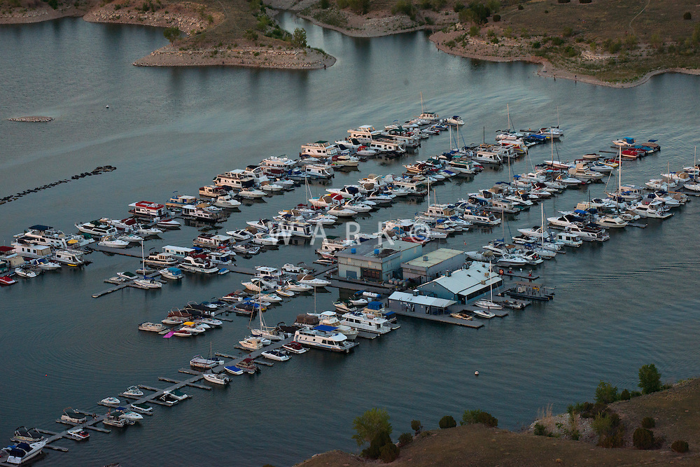 Lake Pueblo North Shore Marina at dusk. June 2014. 85035