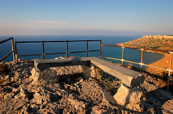 MALTA GOZO RAMLA 24JUL06 - Viewing platform above Calypso's Cave above Ramla Valley. Calypso's Cave is touted as the legendary grotto inhabited by the nymph Ogygia in Homer's Odyssey, where she kept Odysseus captive of her love for seven years...jre/Photo by Jiri Rezac..© Jiri Rezac 2006..Contact: +44 (0) 7050 110 417.Mobile:  +44 (0) 7801 337 683.Office:  +44 (0) 20 8968 9635..Email:   jiri@jirirezac.com.Web:    www.jirirezac.com