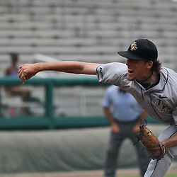 June 04, 2011; Tallahassee, FL, USA; UCF Knights starting pitcher Danny Winkler (35) during the sixth inning of the Tallahassee regional of the 2011 NCAA baseball tournament against the Bethune-Cookman Wildcats at Dick Howser Stadium. Mandatory Credit: Derick E. Hingle