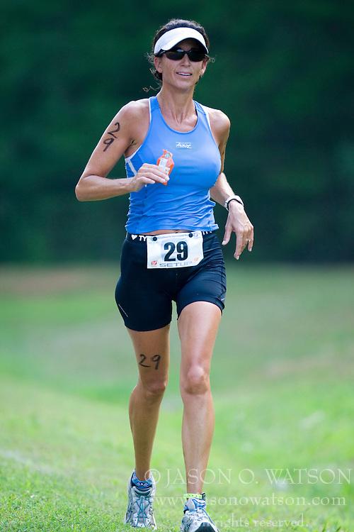 CHARLOTTESVILLE, VA - July 27, 2008 - MICHELLE BUSHROW in The 2008 Charlottesville International Triathlon was held at Walnut Creek Park in Albemarle County near Charlottesville, Virginia, USA.