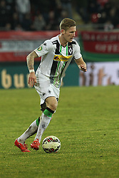 04.03.2015, Sparda Bank Hessen Stadion, Offenbach, GER, DFB Pokal, Kickers Offenbach vs Borussia Moenchengladbach, Achtelfinale, im Bild Andre Hahn (Moenchengladbach) // during German DFB Pokal last sixteen match between Kickers Offenbach and Borussia Moenchengladbach at the Sparda Bank Hessen Stadion in Offenbach, Germany on 2015/03/04. EXPA Pictures © 2015, PhotoCredit: EXPA/ Eibner-Pressefoto/ Roskaritz<br /> <br /> *****ATTENTION - OUT of GER*****