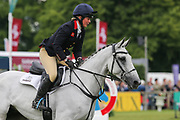 Vendredi Biats ridden by Kitty King in the Equi-Trek CCI-4* Show Jumping during the Bramham International Horse Trials 2019 at Bramham Park, Bramham, United Kingdom on 9 June 2019.