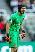 Petr Cech (#1) of Arsenal during the Premier League match between Newcastle United and Arsenal at St. James's Park, Newcastle, England on 15 September 2018.