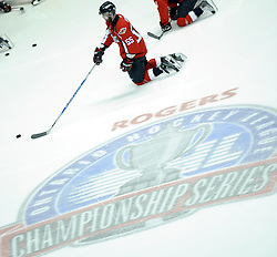 Harry Young of the Windsor Spitfires in Game 3 of the Rogers OHL Championship Series in Windsor on Sunday May 2. Photo by Aaron Bell/OHL Images