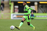 Forest Green Rovers Reece Brown(10) passes the ball forward during the EFL Sky Bet League 2 match between Forest Green Rovers and Carlisle United at the New Lawn, Forest Green, United Kingdom on 16 March 2019.