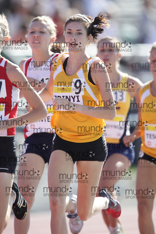 Ottawa, Ontario ---10-08-06--- Zrinyi competes in the 1500 metres at the 2010 Royal Canadian Legion Youth Track and Field Championships in Ottawa, Ontario August 6, 2010..JULIE ROBINS/Mundo Sport Images.