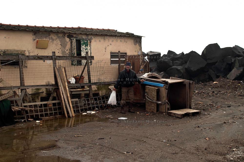 Roma 22  Febbraio 2010.Idroscalo di Ostia,una della case che sarà abbattuta dalle  ruspe comune di Roma