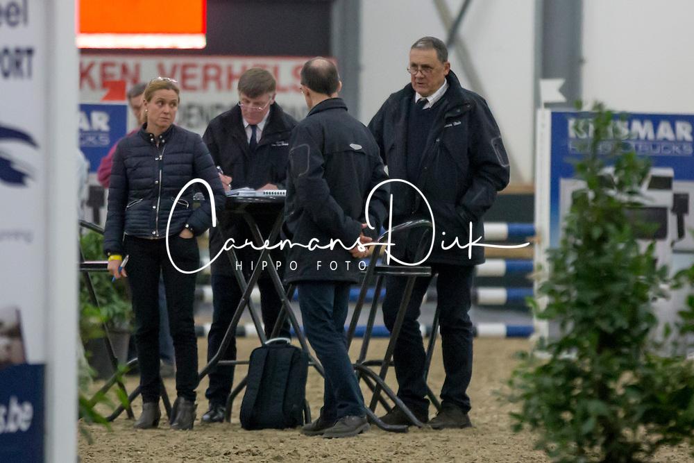 Jury, Stefan De Smet, Herman Bode, Herman Van den Broeck, Inge Meurrens<br /> 3de phase BWP Keuring - Stal Hulsterlo - Meerdonk 2016<br /> © Hippo Foto - Dirk Caremans<br /> 17/03/16
