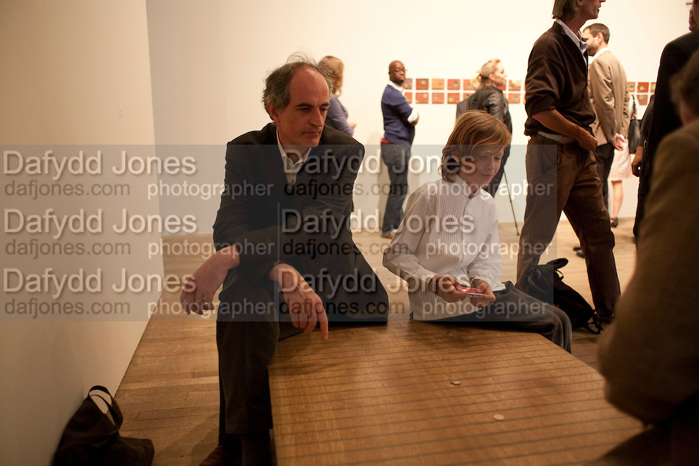 FREDERIC DESMEDT; ELLIOT ALYS, A story of Deception. Exhibition of work by Francis Alys. Tate Modern. London. 14 June 2010. -DO NOT ARCHIVE-© Copyright Photograph by Dafydd Jones. 248 Clapham Rd. London SW9 0PZ. Tel 0207 820 0771. www.dafjones.com.