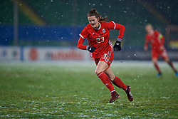 CESENA, ITALY - Tuesday, January 22, 2019: Wales' Gwennan Davies during the International Friendly between Italy and Wales at the Stadio Dino Manuzzi. (Pic by David Rawcliffe/Propaganda)