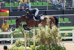 Alvarez Aznar Eduardo, ESP, Rokfeller de Pleville Bois Margot<br /> owner of the horse of Jerome with arms in the air<br /> Olympic Games Rio 2016<br /> © Hippo Foto - Dirk Caremans<br /> 14/08/16