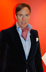 A party hosted by Mario Testino, Bianca Jagger and Kenneth Cole in collaboration with UNFPA and Marie Stopes International to celebrate the publication of Women to Woman: Positively Speaking - a book to raise awareness of women living with HIV/Aids, held at The Orangery, Kensington Palace, London on 2nd December 2004.<br />Picture shows:-Fashion designer MR TOMMY HILFIGER.<br /><br /><br />NON EXCLUSIVE - WORLD RIGHTS