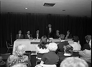 New Israeli Ambassador Meets Jewish Community.(T6)..1989..18.09.1989..09.18.1989..18th September 1989..The newly appointed Israeli Ambassador to Ireland,.Mr Yoav Biran, met with the Jewish Community in Ireland at the Israeli Embassy at Ballsbridge Dublin...Image shows an embassy official introducing the new ambassador, Yoav Biran, to the invited audience.
