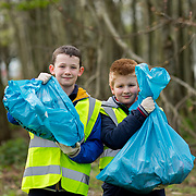 04.04.2017         <br /> St. Brigids National School, Singland Limerick were off the mark early for TLC3. <br /> Pictured during the clean up were, Conor Marnell and Victor Glogowski. Picture: Alan Place